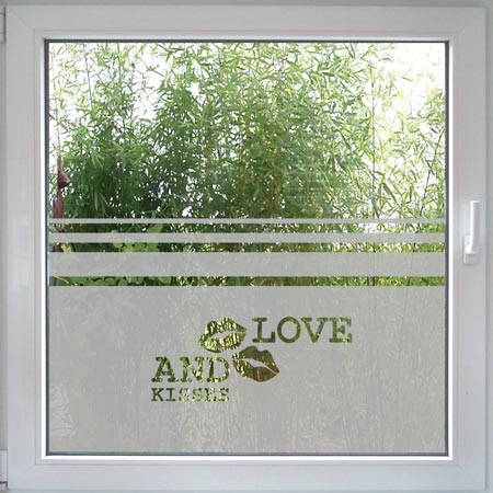 Love and Kisses Fenstertattoo-0