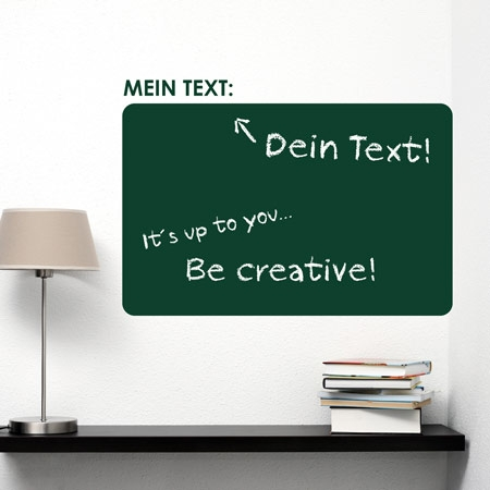 Tafelfolie Mein individueller Text rounded-0