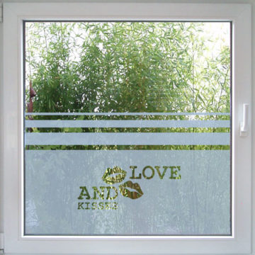 Love and Kisses Fenstertattoo-12