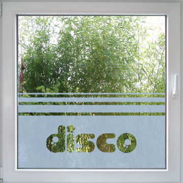 Disco Fensterfolie-708
