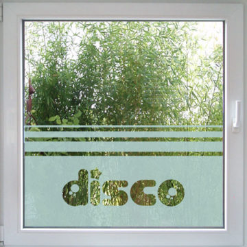 Disco Fensterfolie-709