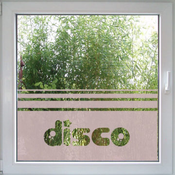 Disco Fensterfolie-710