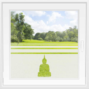 Fensterfolie WiT 107 - Buddha